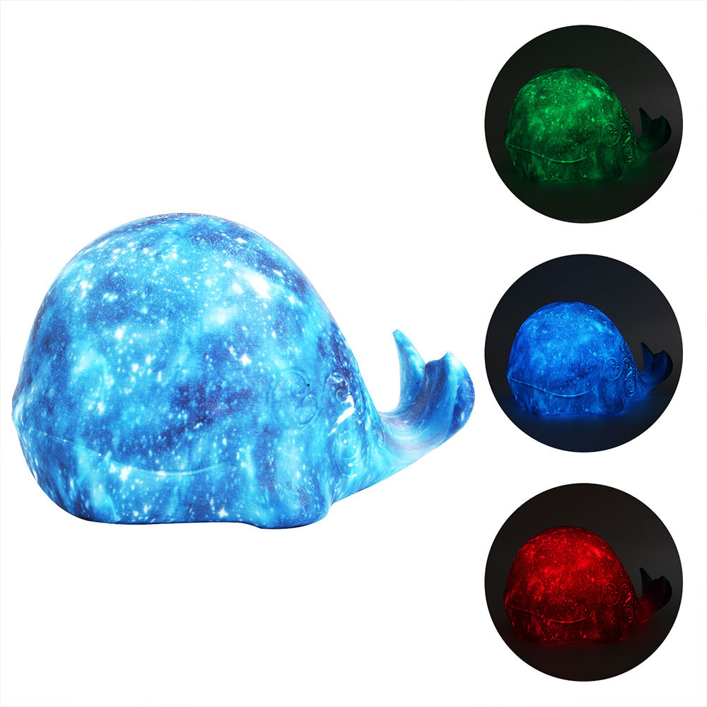 LED Night Light USB Cute Whale Rechargeable Children Lamp Toy Lights Silicone Safety 3D