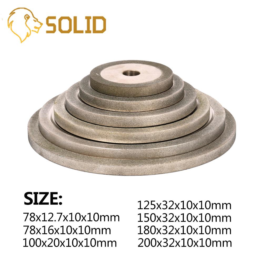 78-180mm Electroplated Flat Diamond Grinding Wheel Metal Milling Sharpener Grinder Accessories 10mm Thickness 150#