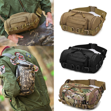 цена на Outdoor Tactical Molle Multipurpose Handbag Waist Pouch Messenger Bag Climbing Travel Waist Bag Sports Nylon Bag