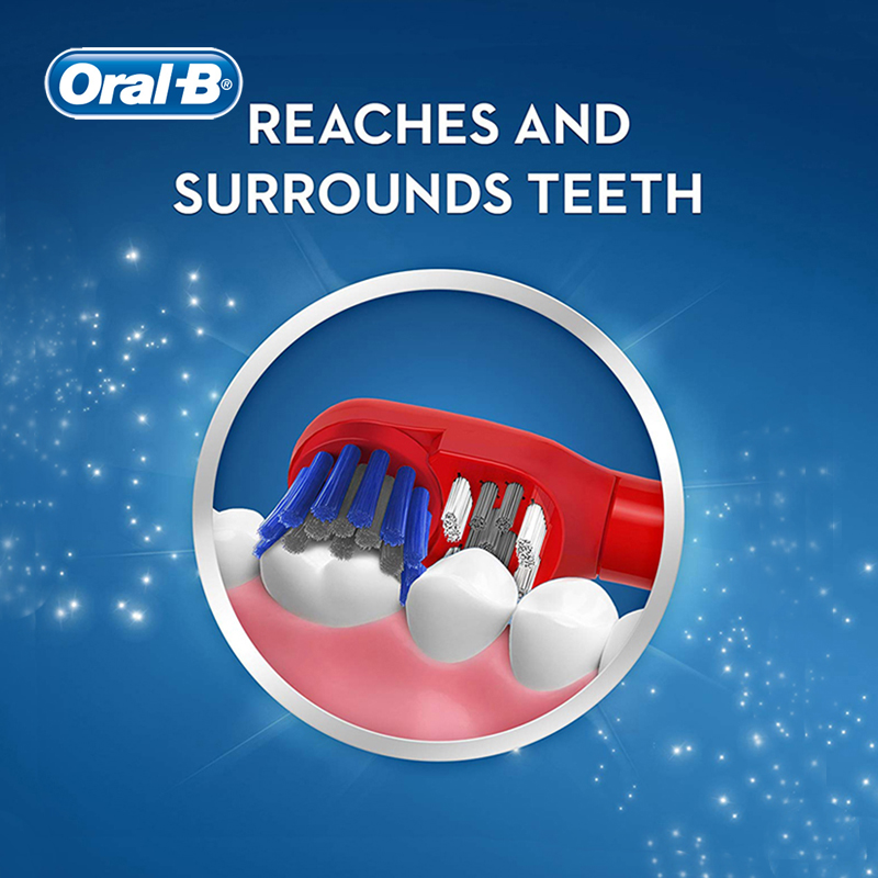 Oral B Kid Electric Toothbrush Tooth Brush Powered by AA Battery 7200 Times Rotation Type Deep Oral Clean Gum Care for Children