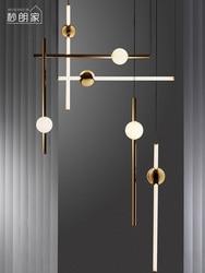 Skandynawska minimalistyczna konstrukcja szklany żyrandol w kształcie kuli kreatywna sztuka molekuła sala salon restauracja światło wiszące oprawy