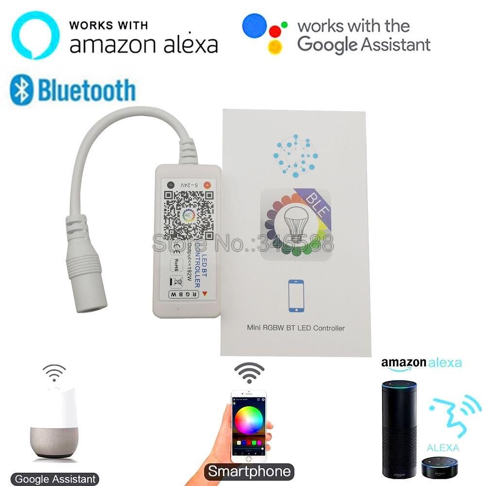 Magic Home Mini BT Mesh Bluetooth RGBW LED Controller DC12V 24V Phone APP Control Alexa Google Home Voice Control for RGBW Strip