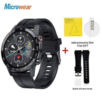 Microwear L16 Smart Watch Men Sports Fitness Tracker IP68 Waterproof Heart Rate Monitor Android IOS Full Touch Screen Smartwatch 21