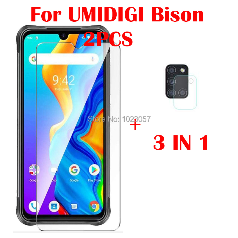 2-in-1 Camera Tempered Glass On For UMIDIGI Bison Screen Protector Glass For UMIDIGI Bison 2.5D Glas