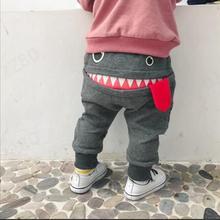 Детская одежда, штаны г., лидер продаж, детские штаны-шаровары для маленьких мальчиков и девочек с милым рисунком акулы, язык, брюки, штаны#0