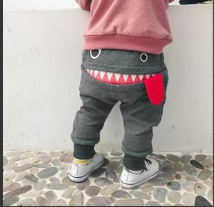 Children Clothing Pants 2019 Hot Sale Baby Children Kids Boys Girls Cute Cartoon Shark Tongue Harem Pants Trousers Pants ##0(China)