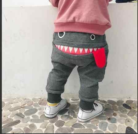 Children Clothing Pants 2019 Hot Sale Baby Children Kids Boys Girls Cute Cartoon Shark Tongue Harem Pants Trousers Pants ##0