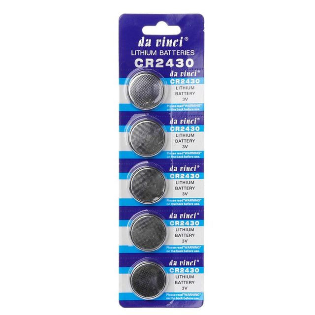 5 個ボタン電池 CR2430 3V 電子リチウムコイン電池 DL2430 BR2430 ECR2430 KL2430 EE6229 · ウォッチ玩具ヘッドホン