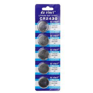 Image 1 - 5PCS כפתור סוללה CR2430 3V אלקטרוני סוללות הליתיום DL2430 BR2430 ECR2430 KL2430 EE6229 שעון צעצוע אוזניות