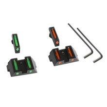 Magorui glock visão de fibra óptica frente traseira pistola vermelho verde