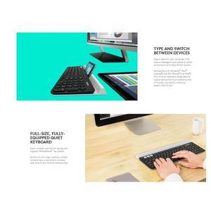 Image 4 - Беспроводная клавиатура Logitech K780 для ПК, компьютера, телефона, планшета, полноразмерная Бесшумная клавиатура, совместимая с Windows, Mac