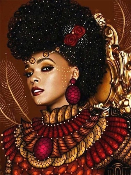 Diamond Embroidery character South African Girl DIY Cross stitch Diamond Painting Full drilling Birthday Presents