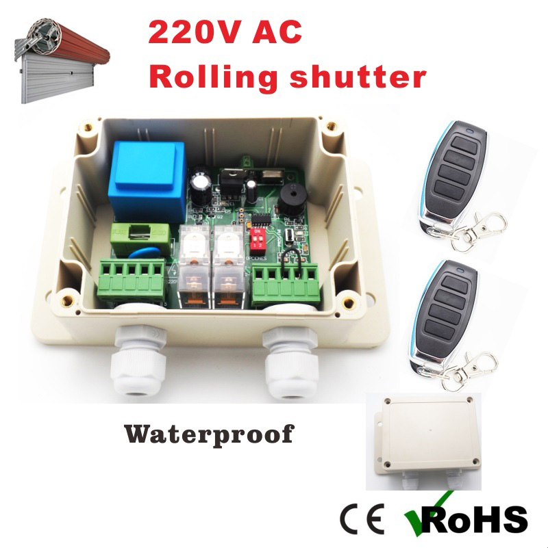 220V AC Roller Shutter Control Board/ motherboard for Garage Door Universal with 10 remote controls optional
