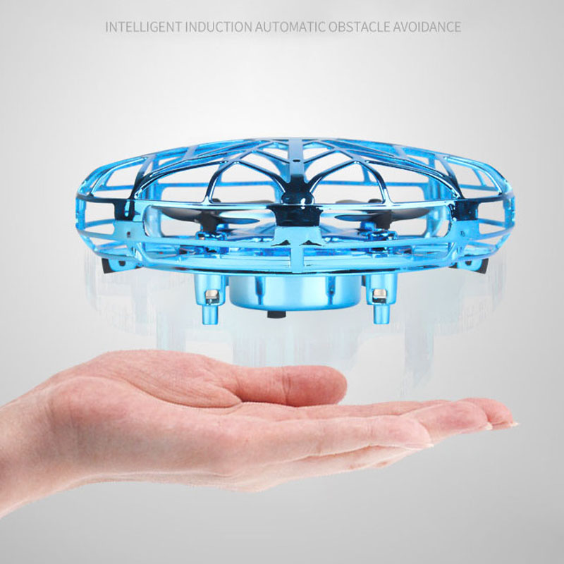Mini Fly Helicopter UFO RC Drone Hand Sensing Aircraft Electronic Model Quadcopter Flayaball Toys Small Drohne For Children