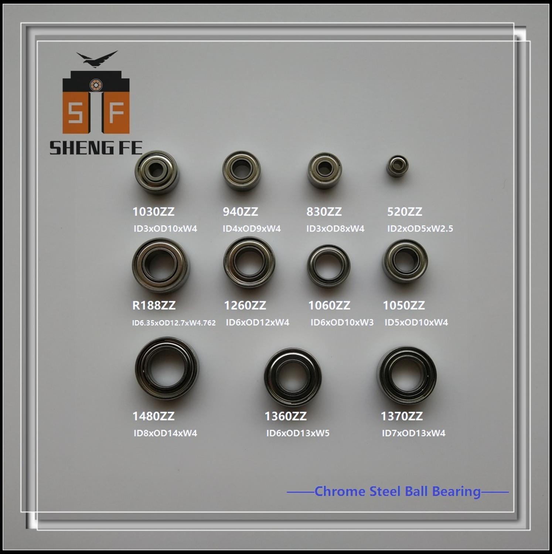 Lot(10Pcs): Chrome Steel Ball Bearing (52ZZ /693ZZ /684ZZ /623ZZ /105ZZ /106ZZ /126ZZ /137ZZ /R188ZZ /686ZZ /148ZZ)  ABEC-7