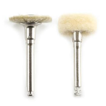 Wool Dental Polishing Flat Brush 2.34mm Wheel Smooth Durable 2 Style Low Speed Small Dental Grinding Buffing Machine Accessories image
