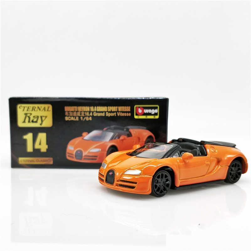 1//43 Bugatti Veyron 16.4 Super Sport 2010 Black//Orange Diecast Car Model Toy