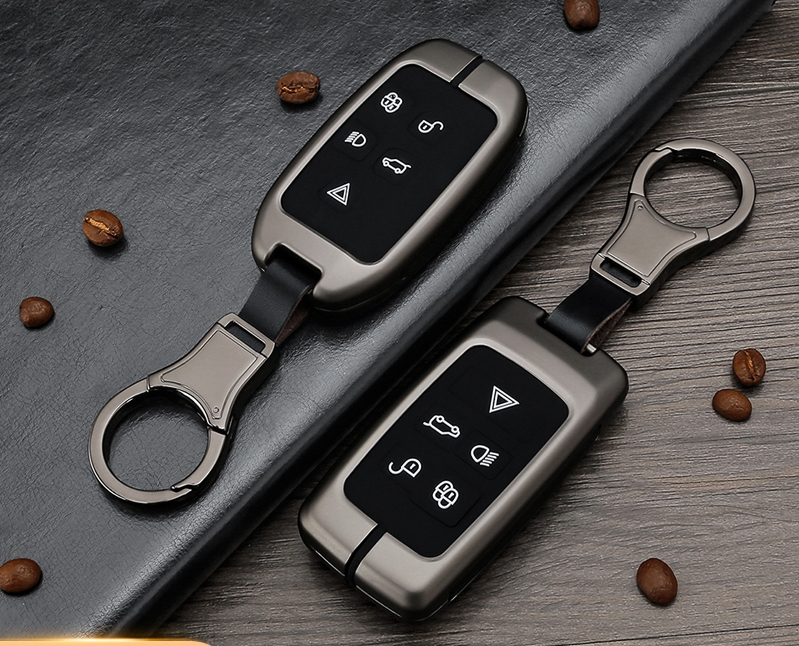 Car Silicone Metal Key chain Case Holder For Land Rover Range Rover Discovery 5 Sport Evoque Freelander 2 Velar Key Protector
