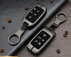 Samochód silikonowy metalowy brelok do kluczy przypadku uchwyt dla Land Rover Range Rover Discovery 5 Sport Evoque Freelander 2 Velar klucz Protector w Etui na kluczyki samochodowe od Samochody i motocykle na