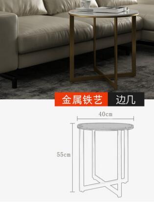 Скандинавский Мраморный Круглый Чайный Столик Современный Простой Круглый Чайный Столик сочетание простой и легкий роскошный мраморный чайный столик комбинация - Цвет: 1