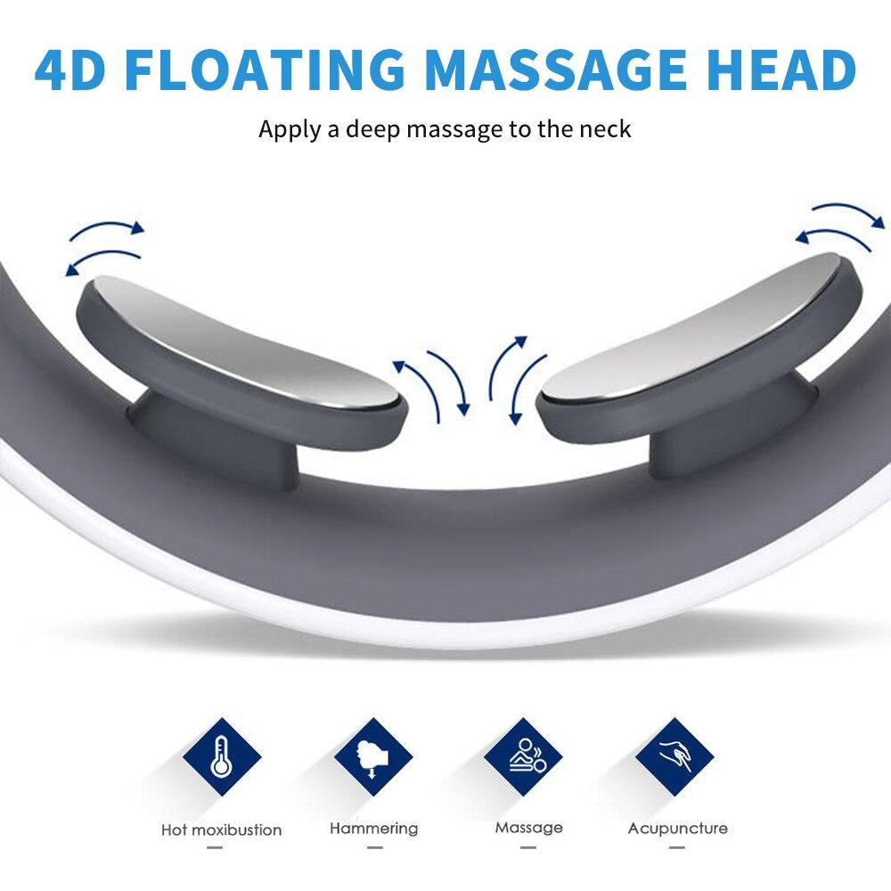 Купить умный электрический массажер для шеи и плеч низкочастотный нагревательный