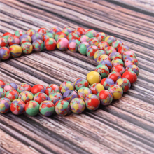 Natural Stone Color Emperor 15.5 PicBlue Peacockk Size 4/6/8/10/12mm fit Diy Charms Beads Jewelry Making Accessories