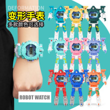 New Kids Educational Gift Action Figure Juguetes Deformation Electronic Watch Robot Toys for Children Boys Girls over 3 Years