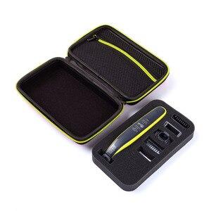 Image 3 - Caso portátil para philips oneblade trimmer barbeador e acessórios eva saco de viagem caixa pacote de armazenamento sem navalha atenção apenas caso