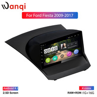 Hot sale IPS 2.5D 9 inch HD Touch Screen Android 8.1 Car Player for Ford Fiesta 2009 2017 Multimedia Navigation Car Radio NO DVD