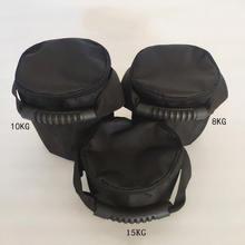 Регулируемый круглый мешок для песка kettlebell тяжелая тренировочная
