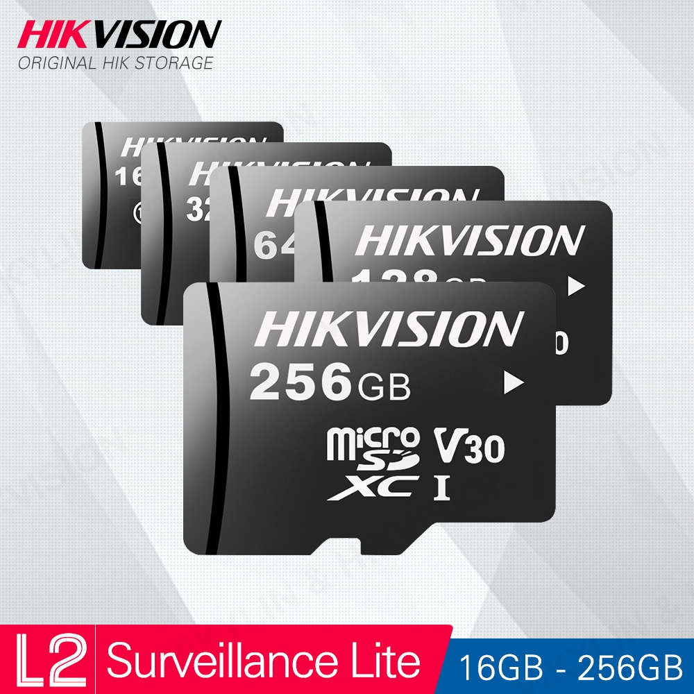 HIKVISION HikStorage Micro SD Card Class10 TF Card 16/32/64/128/256GB Max 95Mb/s Memory Card Security Series #L2