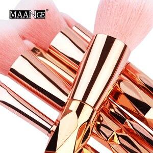 Image 2 - MAANGE 7/10Pcs Diamond Makeup Brushes Set Powder Foundation Eye Shadow Blush Blending Cosmetics Beauty Make Up Brush Tool Kits