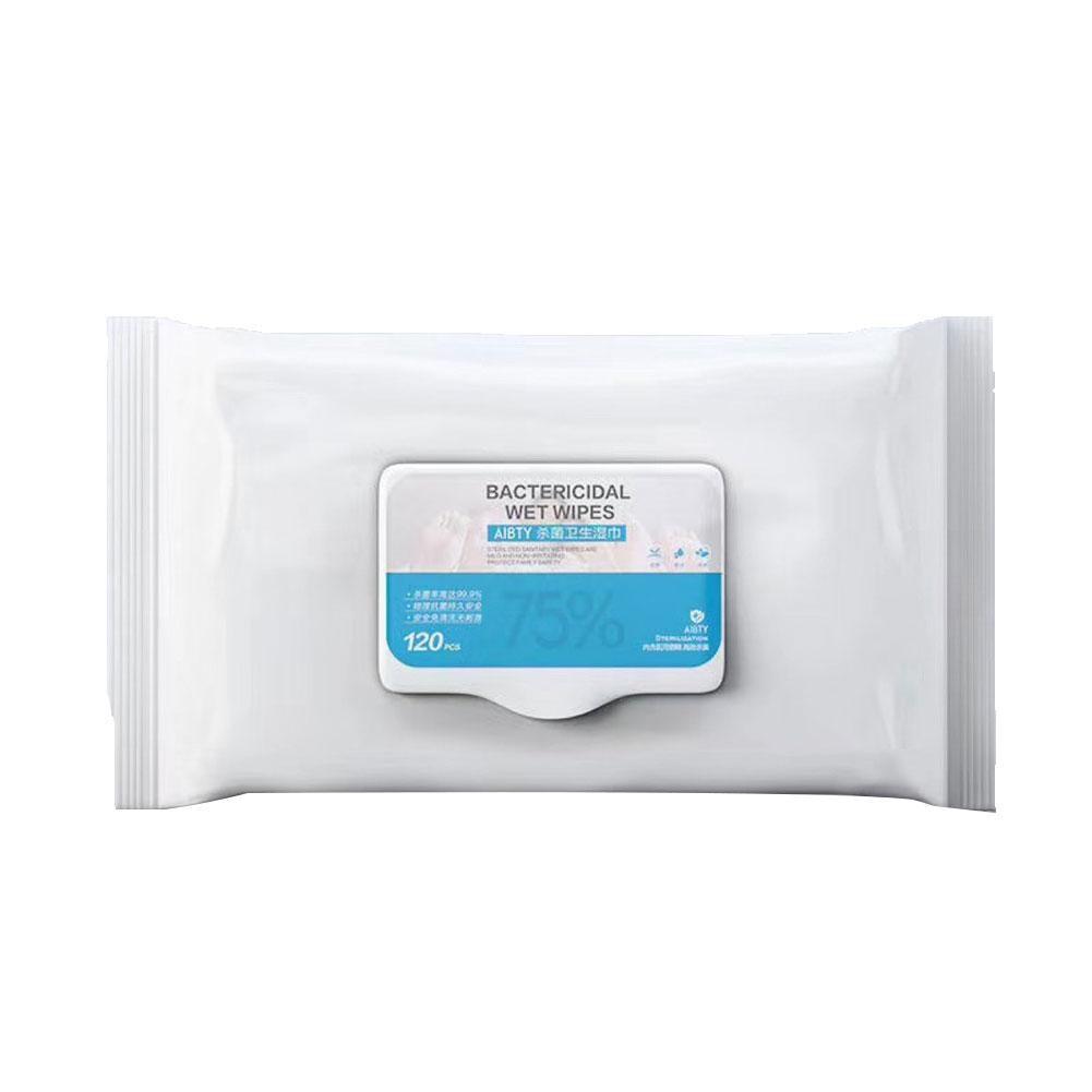 120Pcs/Bag Disposable Alcohol Sterilization Disinfection Wet Wipes Paper Tissue