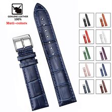 Soft Wrist Belt Bracelet Comfortable Genuine Leather Watch Strap 12 14 16 18 20 22 24 mm Watch Pin buckle Band + Tool cheap SAMCO CN(Origin) Other Watchbands Cow Leather New without tags HQ001