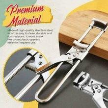 1pc portátil ajustável aço inoxidável mestre jar abridor de garrafa gadgets abridor universal manual portátil para ferramentas de cozinha