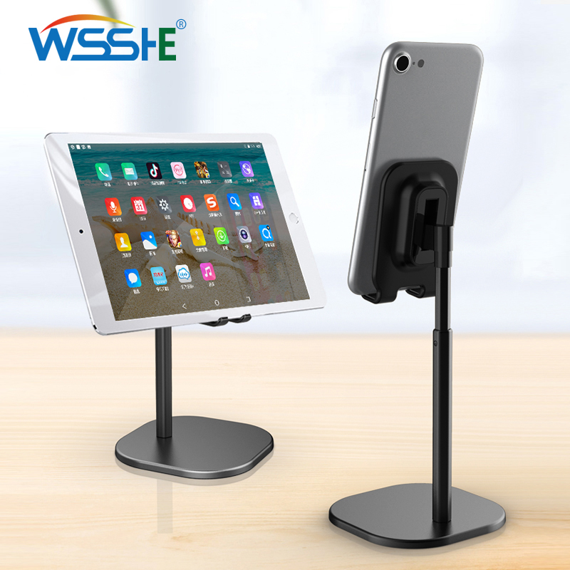 Universal Mobile Phone Holder Desktop Stand for Smartphone Tablet adjustable Desk Bracket Cell Phone stand Metal Mount Support