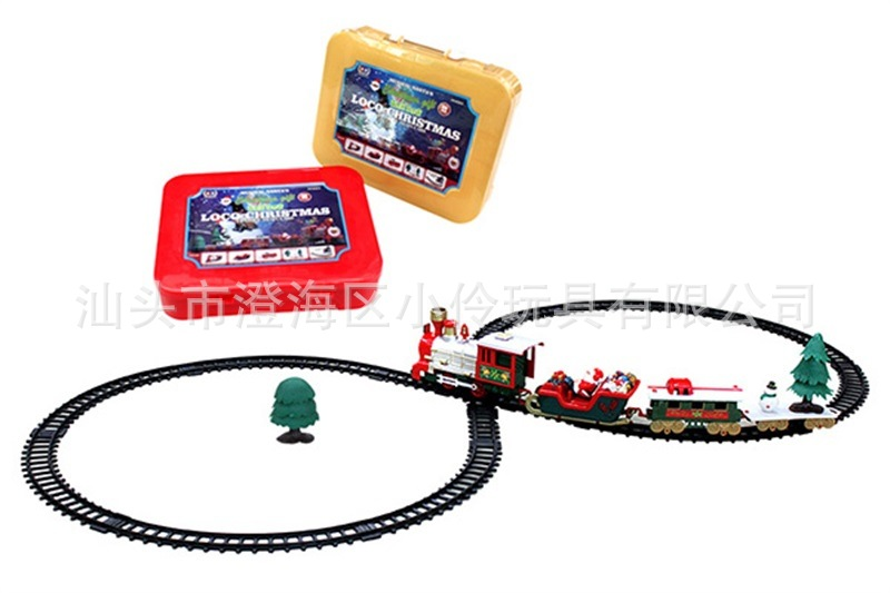 New Style CHILDREN'S Train Camera Track Toy Electric Light And Sound Christmas Small Train Classical Rail Train