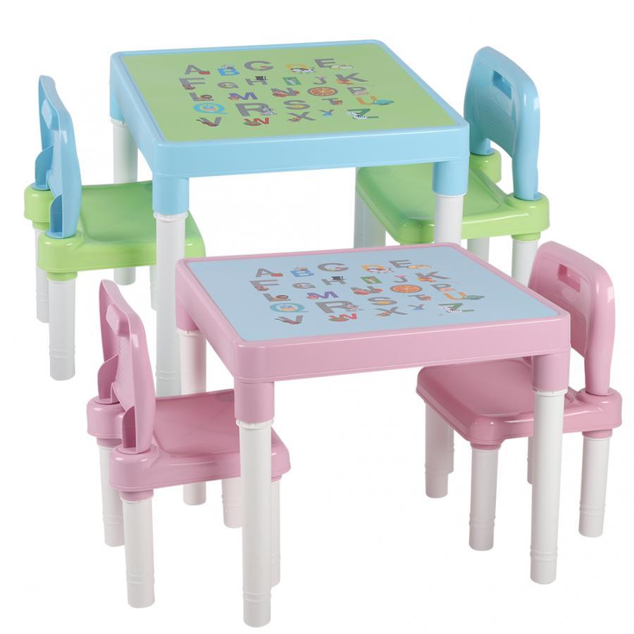 Childrens Kids Plastic Table And Chair Set Learning Studying Desk For Home Kindergarten Kids Desk Set