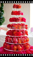 YAXIN 7 Tier Round Beautiful Acrylic Cupcake Stands Party / Wedding / Festival Supplies Cake Display Shelf wedding decoration