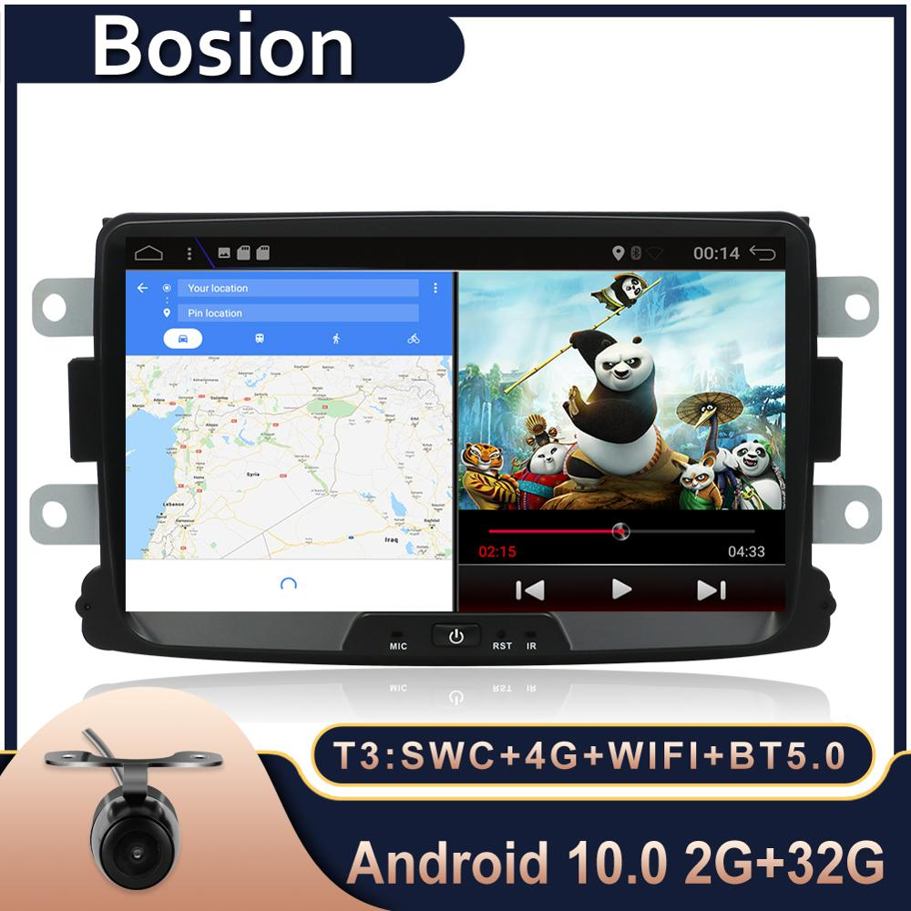 Bosion <font><b>1Din</b></font> Android 10 <font><b>Car</b></font> Radio For Dacia/Sandero/Duster/Renault/Captur/Lada/Xray 2/Logan 2 Auto <font><b>Multimedia</b></font> <font><b>Player</b></font> Bluetooth5.0 image