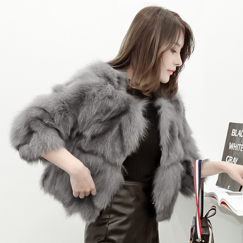Fox Real Fur Coat Women 2020 Fashion Winter Warm Fur Jacket Female Short Overcoat Ladies Outwear Casacos D3H8822-5