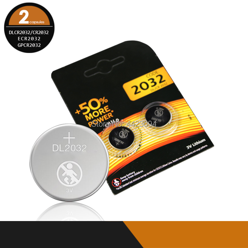 2pcs original cr 2032 brand new <font><b>battery</b></font> for DURACELL <font><b>cr2032</b></font> 3v button cell coin <font><b>batteries</b></font> for watch computer Toy image