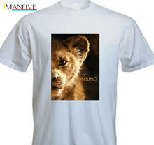 2019 New Movie Lion King Young SIMBA T-shirt Short Sleeve Tee for Movie Fan movie