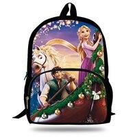Children School Bags Cute Tangled Rapunzel Princess Printing Backpack Girls Cool Bookbag Cartoon Shoulder Bag Mochila