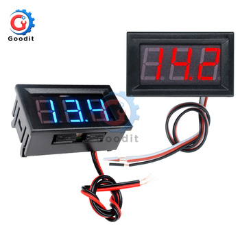 0.56 inch Mini Digital Voltmeter DC 4.5V to 30V AC 70V to 500V Voltage Panel Meter For 6V 12V Electromobile Motorcycle Car image