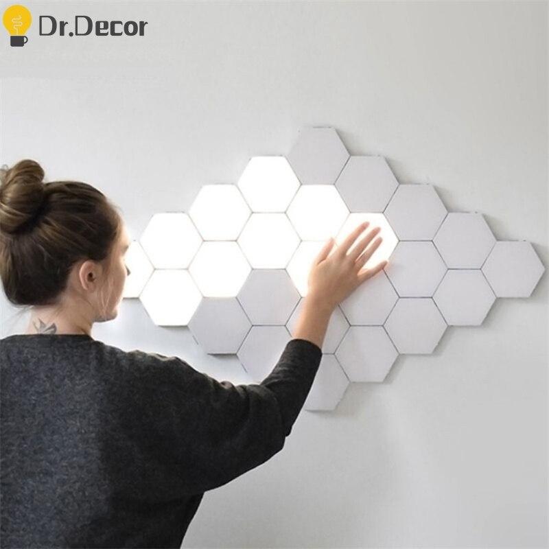Modern Night Lights Quantum Lamp Modular Touch Light LED Sensitive Lighting Magnetic DIY Indoor Decor Living Room Night Light