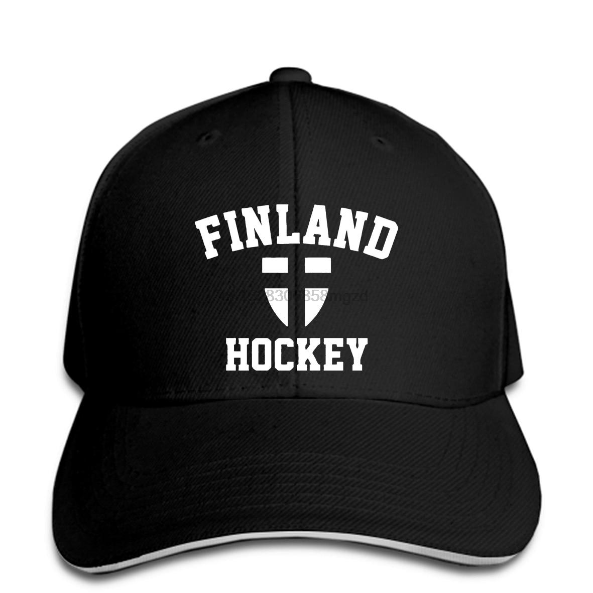 FINLAND HOCKEY Suomi Finnish flagpride team hockey blue jerseyMen Baseball Cap Snapback Cap Women Hat Peaked