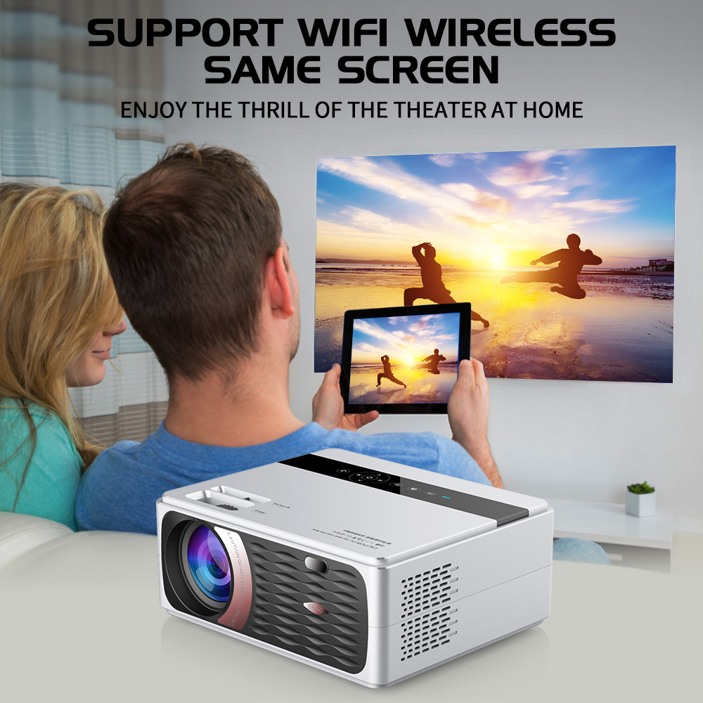 UNIC CP600 1280x720P LED 8000 Lumens Projector 1080P Full HD HDMI WIFI LCD Home Theater Movie Beamer Android Proyector 3