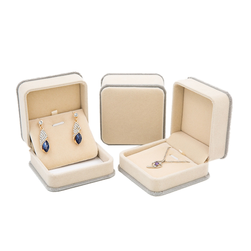 Valentines Day Ring Velvet Gift Packaging Box Jewelry Organizer Earrings Pendant Women Accessories Case