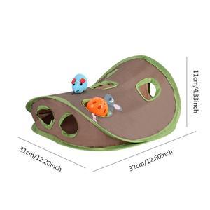 Обучающие 9 отверстий туннель кошки игрушки интерактивные скрывать поиск игра мышь Охота Интеллект игрушка животное скрытое отверстие скл...